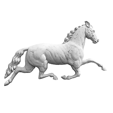 Darby Home Co Traditional Running Horse Plaque Wall Decor; Dover White