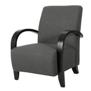 Ebern Designs Elle Armchair; Dark Gray
