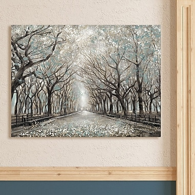 Winston Porter 'Momentary Quiet Platinum' Print on Canvas; 32'' H x 42'' W