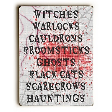 The Holiday Aisle 'Halloween' Textual Art on Wood; 24'' H x 18'' W