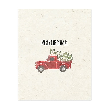 The Holiday Aisle 'Christmas Truck' Graphic Art Print; 14'' x 11''