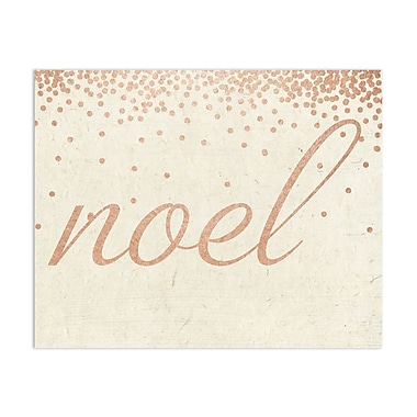 The Holiday Aisle 'Noel Rose' Textual Art; 10'' x 8''