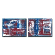 Williston Forge 'Americana Blues I/II' Acrylic Painting Print Multi-Piece Image on Canvas