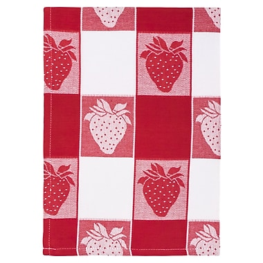 August Grove Strawberry Check 100pct Hand Woven Cotton Dishcloth (Set of 6)