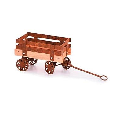 August Grove Ornella Tin Wood Wagon Figurine