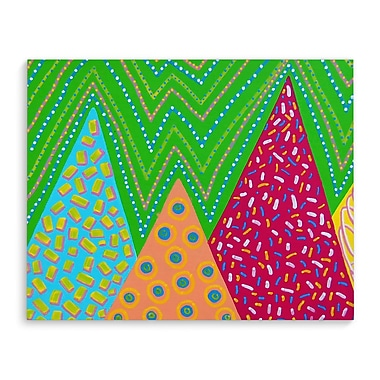 Ebern Designs 'Pattern' Rectangle Graphic Art Print on Canvas