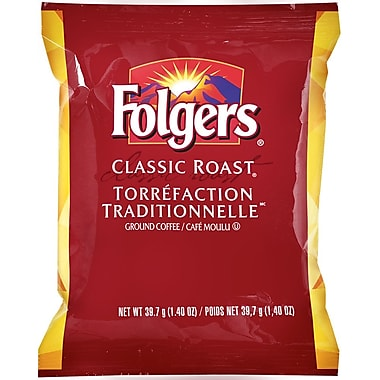 Folgers - Café moulu torréfaction traditionnelle, pré-mesuré, 39,7 g (1,4 oz), bte/42