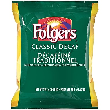 Folgers Classic Decaffeinated Pre-Measured Ground Coffee, 39.7 g (1.4 oz.), 42/Pack