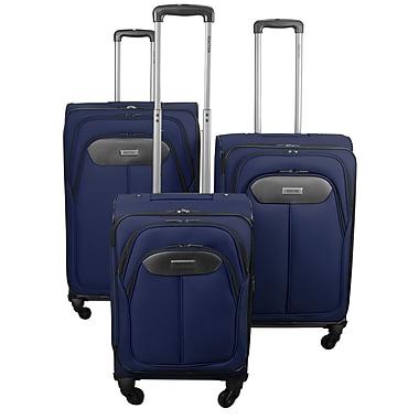 Kenneth Cole – Ensemble de valises Reaction Excursion 2.0 1200D, 3 pièces, indigo (KCR5712208)