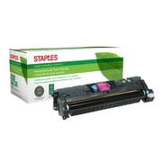 Staples® Sustainable Earth Reman Magenta Toner Cartridge, HP 121A/122A/123A (SEB2500MR)