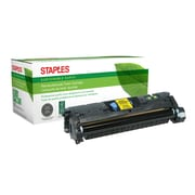 Staples® Sustainable Earth Reman Yellow Toner Cartridge, HP 121A/122A/123A (SEB2500YR)