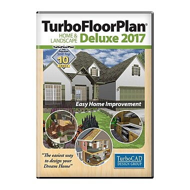 Logiciel TurboFloorPlan Home & Landscape Deluxe 3D 2017, Windows [Téléchargement], anglais