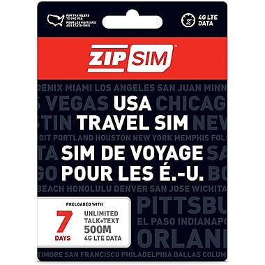 ZIP Sim – Carte SIM de voyage texte et données, É.-U., 500 Mo