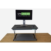 Uncaged Ergonomics CHANGEdesk Mini Sit-to-Stand Laptop Office Desk. Black (CDMM-b)
