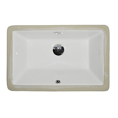 UCore Rectangular Undermount Bathroom Sink w/ Overflow
