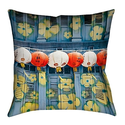 Bloomsbury Market Akini Lanterns in Singapore Square Pillow Cover w/ Zipper; 18'' x 18''