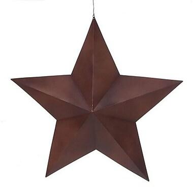 August Grove Rustic Metal 3-D Star Wall D cor; 36'' H x 36'' W