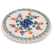 Polmedia Spring Flowers Polish Pottery Coaster