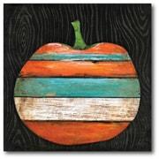 Varick Gallery 'Striped Pumpkin' Graphic Art Print on Canvas