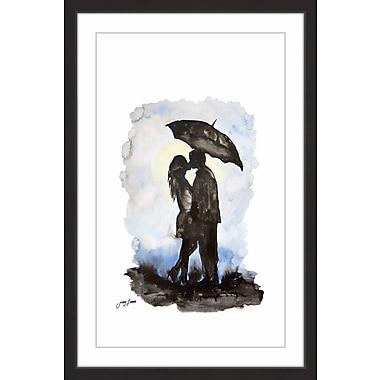 Latitude Run 'Romantique Rendez-Vous' Framed Watercolor Painting Print; 60'' H x 40'' W