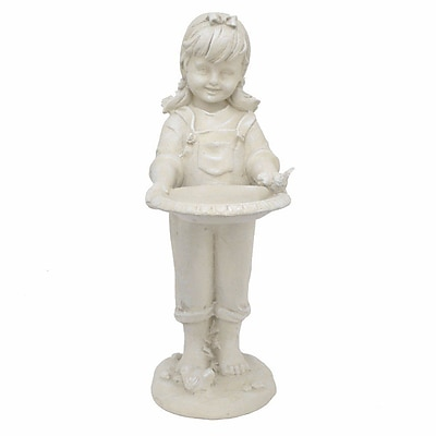August Grove Loretto Resin Girl Statue WYF078281866953