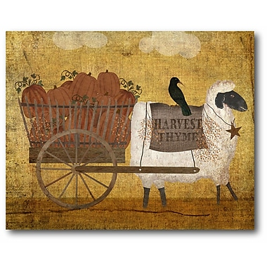 August Grove 'Harvest Sheep' Graphic Art Print on Canvas