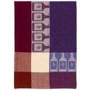 Fleur De Lis Living Wine Bottle 100pct Hand Woven Cotton Dishcloth (Set of 6)