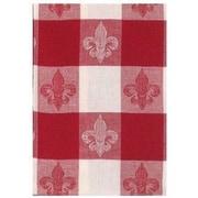 Fleur De Lis Living Fleur De Lis Check Rectangle 100pct Cotton Dishcloth (Set of 6)