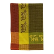 Loon Peak Bear 100pct Hand-Woven Cotton Dishcloth (Set of 6)