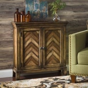 Bungalow Rose Pedro Chevron Cabinet