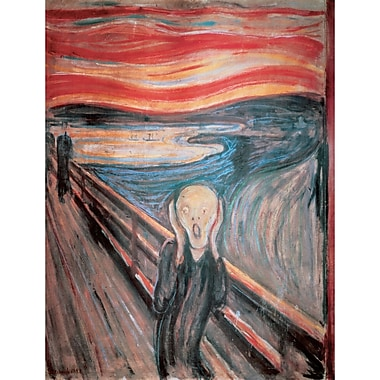 Winston Porter 'The Scream' by Edvard Munch Print on Wrapped Canvas; 28'' H x 22'' W