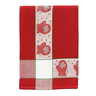 The Holiday Aisle Patterned Mittens 100pct Cotton Dishcloth (Set of 6)