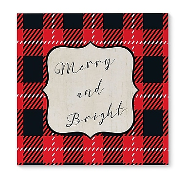 The Holiday Aisle 'Merry and Bright' Graphic Art Print on Canvas