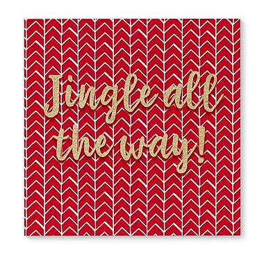 The Holiday Aisle 'Jingle All The Way' Graphic Art Print on Canvas
