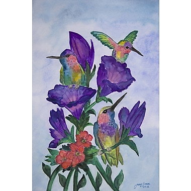 August Grove 'Nectar' Watercolor Painting Print on Wrapped Canvas; 24'' H x 16'' W