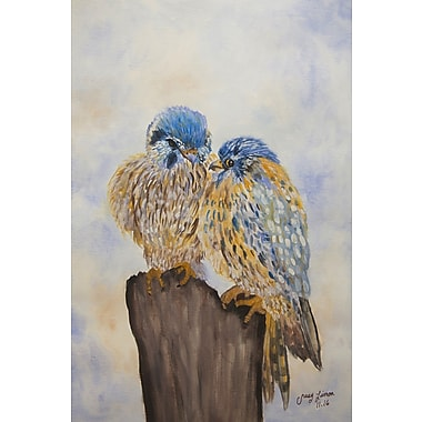 August Grove 'Tell Me More' Watercolor Painting Print on Wrapped Canvas; 18'' H x 12'' W