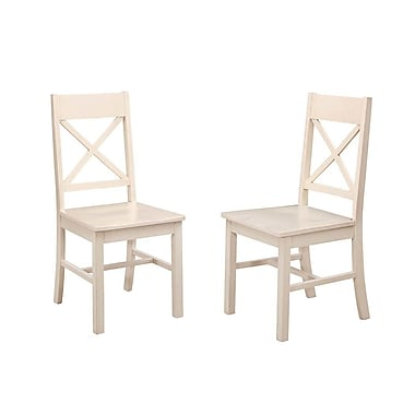 August Grove Maplewood Wood Dining Chair (Set of 2)
