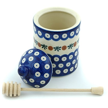 Polmedia Polish Pottery Mosquito Honey w/ Dipper Kitchen Canister
