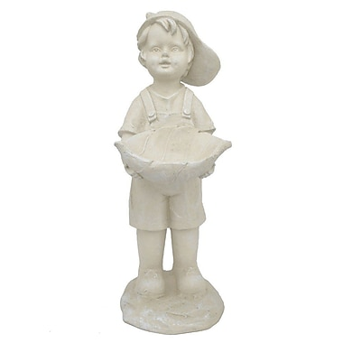 August Grove Lowry Resin Boy Statue