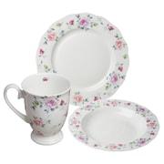 August Grove Onida Bone China Romantic Rose 12 Piece Dinnerware Set, Service for 4