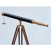 Longshore Tides Everleigh Harbor Master Decorative Telescope w/ Antique Brass Cap
