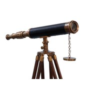 Longshore Tides Everleigh Coastal Harbor Master Decorative Telescope w/ Antique Brass Cap
