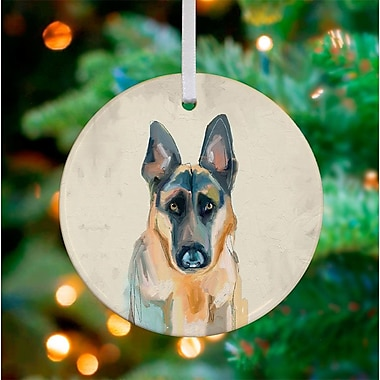 GreenBox Art Personalized Best Friend German Shepherd Hanging Ornament