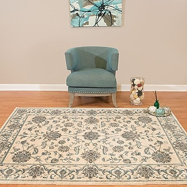 Charlton Home Jansson Oriental Bone Cotton Area Rug; 3'11'' x 5'10''
