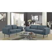 Ivy Bronx Dibiase Loveseat; Denim
