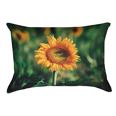 Latitude Run Holst Sunflower Faux Suede Double Sided Print Pillow Cover; 18'' x 18''
