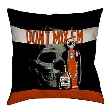 East Urban Home Anti-Drunk Driving Poster Throw Pillow; 26'' x 26''