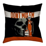 East Urban Home Double Sided Print Anti-Drunk Driving Poster Throw Pillow; 20'' x 20''