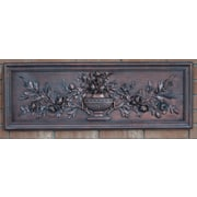 Hickory Manor House Outdoor French Floral Plaque Wall Decor