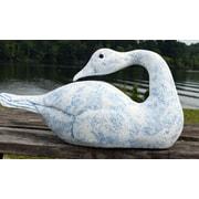 Hickory Manor House Primitive Sleeping Swan Statue